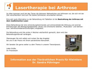 Lasertherapie Arthrose